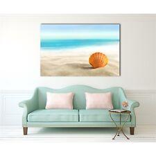 Framed Canvas prints Beach Shell sand blue ocean view modern wall art home decor