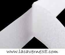 Scratch blanc 5cm/50mm mâle + femelle bande à coudre couture mercerie