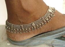 old silver jewelry anklet feet bracelet vintage antique tribal bellydance jewelr