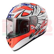 Casco Helmet Moto Scooter Integrale LS2 FF323 ARROW R FREEDOM - white orange blu