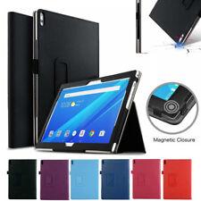 "Premium Lenovo Tab 4 8 / 10 / 10 Plus Inch Tablet Leather Case Cover 8"" 10"" + SP"