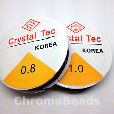 Cavo di Crystal-NERA IN SILICONE filo elastico Stretch-Scelta di Taglie