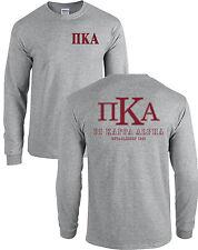 Pi Kappa Alpha Fraternity Long Sleeve Shirt PIKE Letters - MORE COLORS