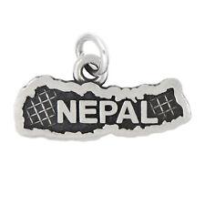 LGU® Sterling Silver Oxidized Nepal Travel Charm (With Options)