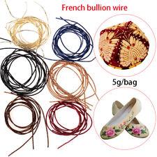 Diy Handmade french bullion wire Embroidery Thread Indian silk Cross Stitch
