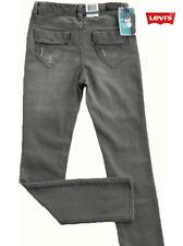NWT LEVI'SGirls Grey Distressed Skinny Jeans(Size 8, 16) NEW