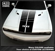 Dodge Challenger Emblem Hood Strobe Stripes Decals 2011 2012 2013 2014 Pro Motor