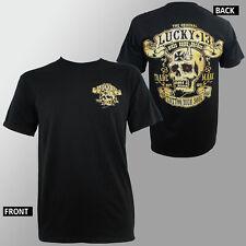 Authentic LUCKY 13 Skull Booze Bikes & Broads Rockabilly T-Shirt M-3XL NEW