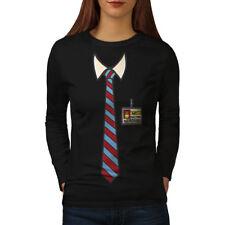 Full Time Nerd Tie Geek Women Long Sleeve T-shirt NEW   Wellcoda