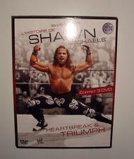 RARE DVD CATCH L HISTOIRE DE SHAWN MICHAELS HEARTBREAK & TRIUMPH COFFRET 3 DVD