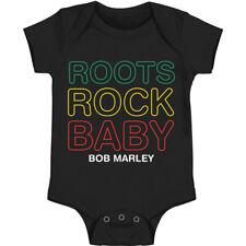Bob Marley Boys' Roots Rock Baby Bodysuit Black