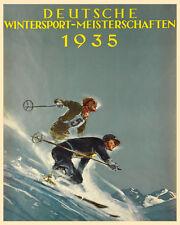 Deutsche 1935 Germany German Ski Skiing Race Sport Vintage Poster Repo FREE SH