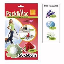 Vacuum Scented Plastic Space Saver Bags Compressed Storage Pack Vac 50 x 60cm