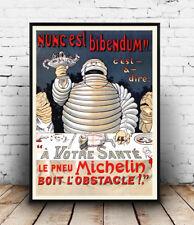 Michelin Pneu: Vintage anuncio de neumáticos, Pared Arte, cartel, reproducción.