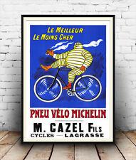 Pneu Velo Michelin, Vintage Ciclismo Anuncio Cartel reproducción.