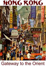 Vintage BOAC Flights to Hong Kong BOAC01 Poster A4 A3 Print  BUY 2 GET 1 FREE
