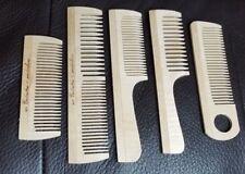 Hair comb handmade REAL WOOD natural anti-static detangler wide fine tooth