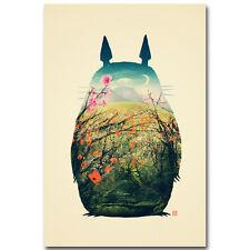 My Neighbor Totoro Cartoon Silk Poster 12x18 24x36 inch Hayao Miyazaki 006