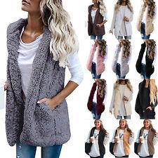 Women Ladies Faux Fur Vest Waistcoat Gilet Sleeveless Jacket Coat Outwear Casual
