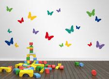 18 Schmetterlinge - Wohnzimmer Kinderzimmer Babyzimmer Wandaufkleber WandTattoo