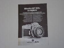 advertising Pubblicità 1976 MINOLTA SRT 303 B