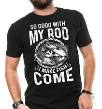 Fishing T shirt Gift For Fisherman Fisher Tee Shirt Funny Fishing Rod Shirts