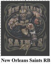 NFL New Orleans Saints Mascot cross stitch pattern