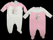 Schlafanzug Strampler Overall Disney Minnie rosa weiss 62 68 74 80 86 92 NEU