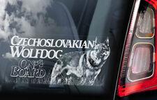 Czechoslovakian Wolfdog - Car Window Sticker - Vlcak Wolf Dog Sign Decal - V07