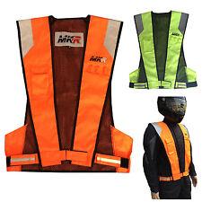MKR Lite Fluorescent High Visibility Hi Vis Viz Motorcycle Motorbike Vest Jacket