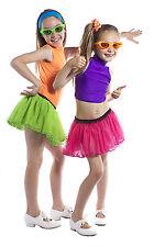 Girl's Netted TUTU Skirt. Fancy dress, Dance Show costume/  Neon Rave 80s 7 - 12