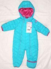 NWT SNOZU Infant Kids 1 Stück Schnee Anzug Frozen blau mit rosa Rand & Plüschfutter