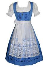 DIRNDL German Oktoberfest Dress EMBROIDERY 3pc Long BLUE Swing Waitress Party