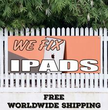 Banner Vinyl We Fix Ipads Advertising Sign Flag Apple Cellphones Mobile Repairs