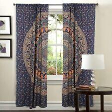 Lavender Mirchi Mandala Cotton Hippie Tapestry Door Draper Decor Window Curtains