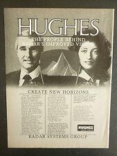 8/1984 PUB HUGHES AIRCRAFT COMPANY RADAR SYSTEMS GROUP ORIGINAL AD
