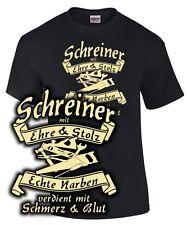 SCHREINER T-Shirt EHRE STOLZ NARBEN BLUT Werkzeug Zunft Wappen Zeichen Beruf