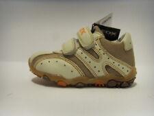 Geox B8136D beige scarpa bassa bambino strappi shoe short child rips