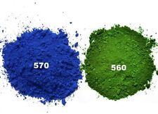 (12,78 EUR/kg) 5 kg Farbpulver Blau/Grün für Beton,Estrich, Putz, Silikon, Harz