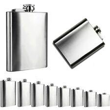 1oz-10oz Stainless Steel Pocket Hip Flask Retro Whiskey Flask Liquor Screw Cap