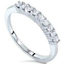 5/8ct 9-Stone Diamond Wedding Ring 14K White Gold