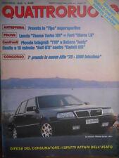 Quattroruote 397 1988 Prova Tipo Supersportiva. 1° premio nuova Alfa 75 1800