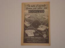 advertising Pubblicità 1955 MACCHINE PER SCRIVERE UNDERWOOD