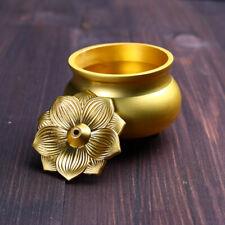1pc Censer Mini Round Bowl Brass Stick Incense Burner Line Home Office Ornament