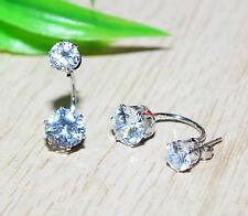 STRASSOHRRING +++ Ohrschmuck Ohrstecker Strass Doppel Ohrringe Kristall Ohrring