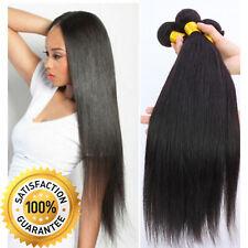 100g Brazilian Peruvian 100% Virgin Human Hair Extensions Wefts 7A Weave UK
