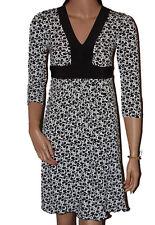 Ladies Black & White ¾ Sleeved Dress - UK 10/12