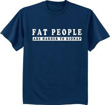 Big and tall t-shirt funny saying fat people bigmen decal tee shirt