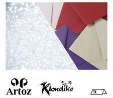 50 Artoz Papier Klondike Tischkarte klein 100x45mm 300g Farben