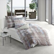 Irisette Mako-Satin Bettwäsche Juwel-K 8861-20 grau-blau modern 100% Baumwolle